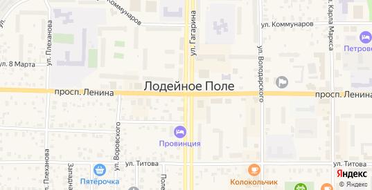 Южная улица в Лодейном Поле с номерами домов на карте. Спутник и схема онлайн