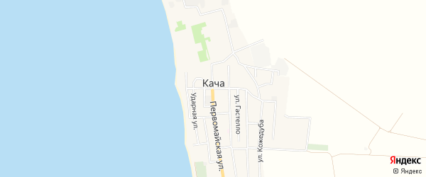 Карта поселка Качи в Севастополе с улицами и номерами домов