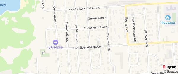 Улица Киреева на карте Лодейного Поля с номерами домов