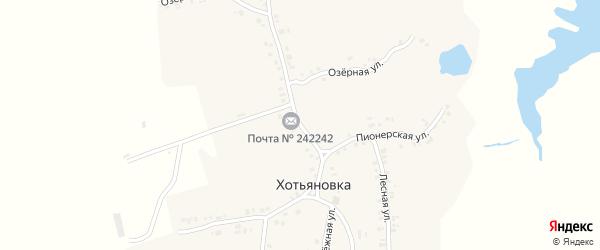 Улица Имени Ворошилова на карте деревни Хотьяновки с номерами домов
