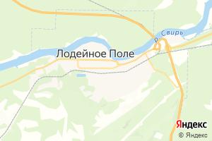Карта г. Лодейное Поле Ленинградская область
