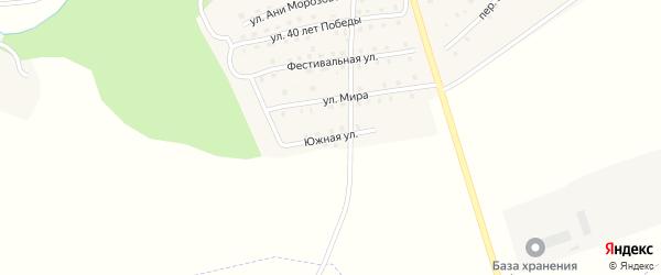Южная улица на карте поселка Рогнедино с номерами домов