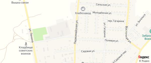 Первомайская улица на карте поселка Рогнедино с номерами домов