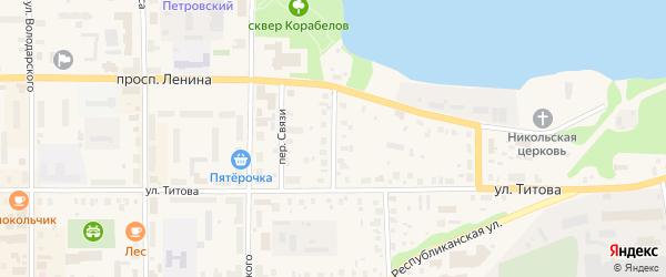 Улица Петра Терентьева на карте Лодейного Поля с номерами домов