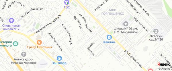 Курская улица на карте Севастополя с номерами домов