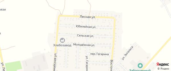 Сельская улица на карте поселка Рогнедино с номерами домов