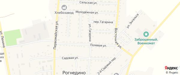 Улица Гагарина на карте поселка Рогнедино с номерами домов