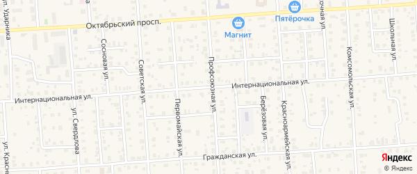 Интернациональная улица на карте Лодейного Поля с номерами домов