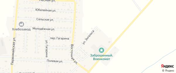 Улица Энгельса на карте поселка Рогнедино с номерами домов