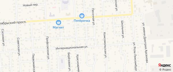 Боровая улица на карте Лодейного Поля с номерами домов