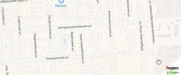 Гражданский проезд на карте Лодейного Поля с номерами домов
