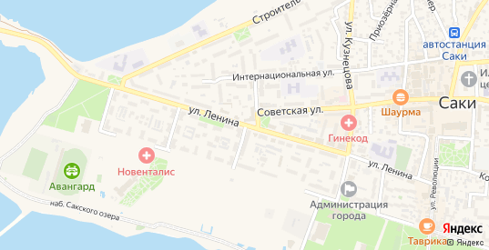 Улица Бурденко в Саках с номерами домов на карте. Спутник и схема онлайн