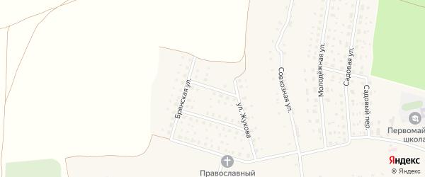 Улица Титова на карте Первомайского села с номерами домов