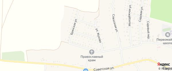 Улица Зои Ковалюк на карте Первомайского села с номерами домов