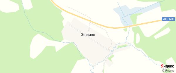 Карта деревни Жилино города Осташкова в Тверской области с улицами и номерами домов