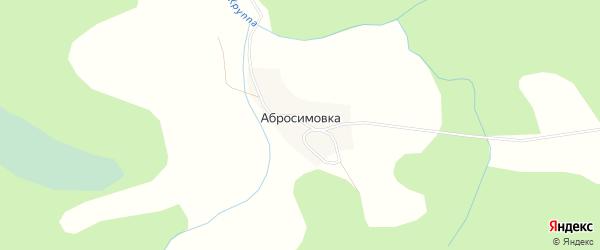 Карта деревни Абросимовки в Новгородской области с улицами и номерами домов