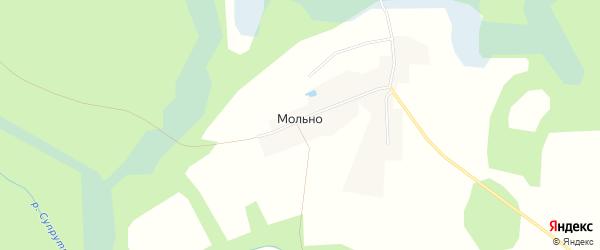 Карта деревни Мольно в Смоленской области с улицами и номерами домов
