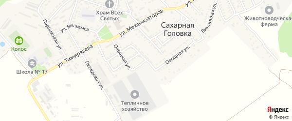 Овощная улица на карте Севастополя с номерами домов