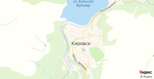 Карта Кировска с улицами и домами подробная. Показать со спутника номера домов онлайн