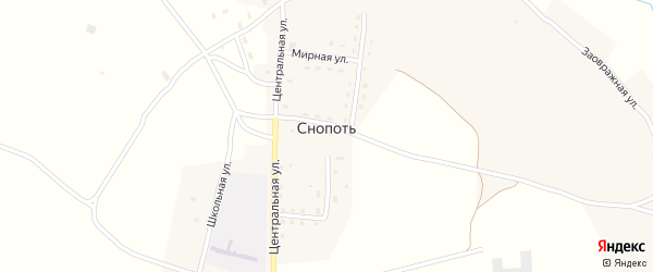Молодежная улица на карте села Снопоти с номерами домов