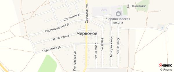 Средний проезд на карте Червоного села Крыма с номерами домов