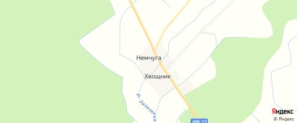 Карта деревни Немчуги в Новгородской области с улицами и номерами домов