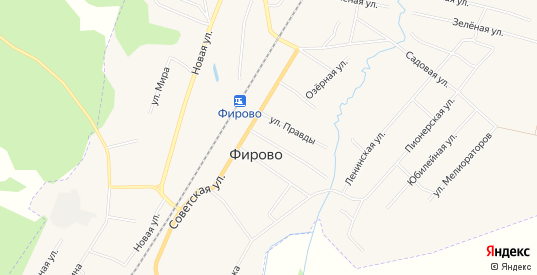 Карта поселка Фирово в Тверской области с улицами, домами и почтовыми отделениями со спутника онлайн