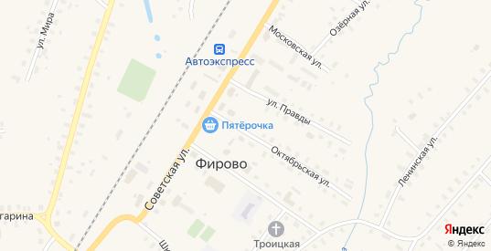 Школьный переулок в поселке Фирово в Тверской области с номерами домов на карте. Спутник и схема онлайн