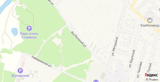Футбольная улица в Жуковке с номерами домов на карте. Спутник и схема онлайн