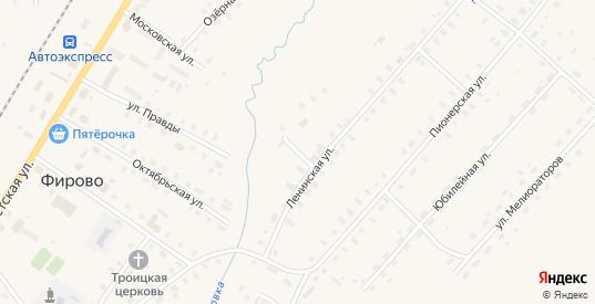 Ленинский переулок в поселке Фирово в Тверской области с номерами домов на карте. Спутник и схема онлайн