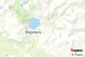 Карта г. Кировск Мурманская область