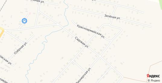 Садовая улица в поселке Фирово в Тверской области с номерами домов на карте. Спутник и схема онлайн