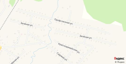 Зеленая улица в поселке Фирово в Тверской области с номерами домов на карте. Спутник и схема онлайн