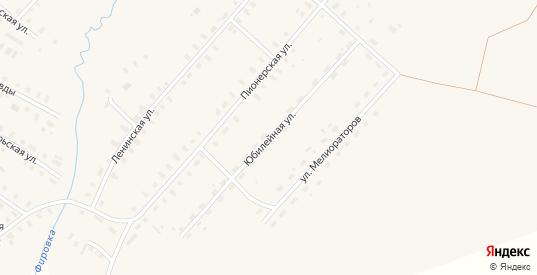 Юбилейная улица в поселке Фирово в Тверской области с номерами домов на карте. Спутник и схема онлайн