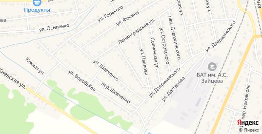 Ленинградский переулок в Жуковке с номерами домов на карте. Спутник и схема онлайн
