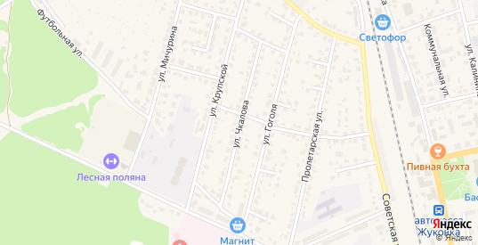 Улица Чкалова в Жуковке с номерами домов на карте. Спутник и схема онлайн