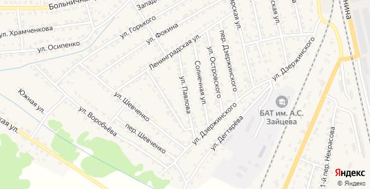 Улица Павлова в Жуковке с номерами домов на карте. Спутник и схема онлайн