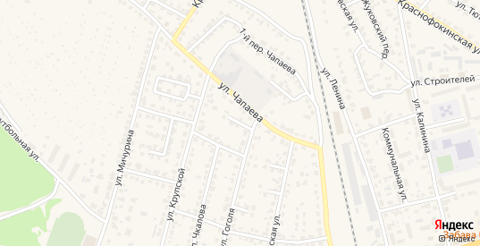 Улица 4-й тупик Гоголя в Жуковке с номерами домов на карте. Спутник и схема онлайн
