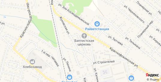 Жуковский переулок в Жуковке с номерами домов на карте. Спутник и схема онлайн