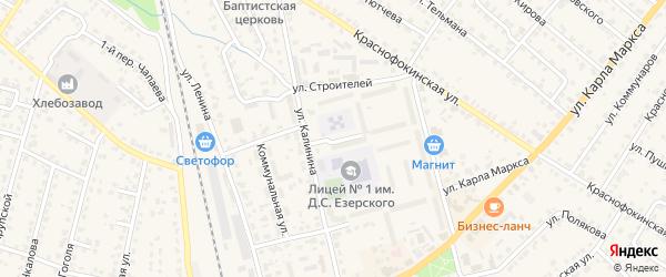 Весенний переулок на карте Жуковки с номерами домов
