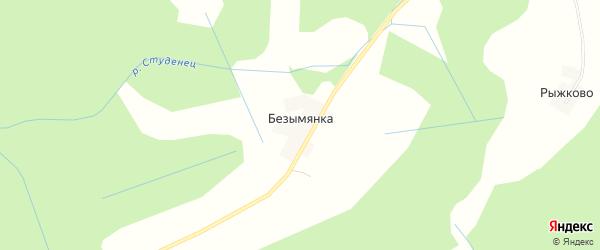 Карта деревни Безымянки в Тверской области с улицами и номерами домов