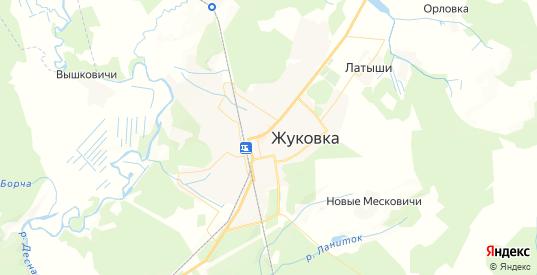 Карта Жуковки с улицами и домами подробная. Показать со спутника номера домов онлайн