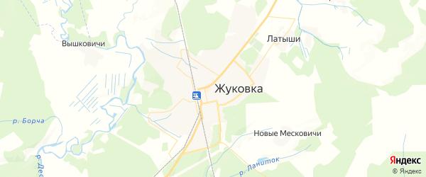 Карта Жуковки с районами, улицами и номерами домов