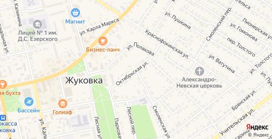 Октябрьская улица в Жуковке с номерами домов на карте. Спутник и схема онлайн