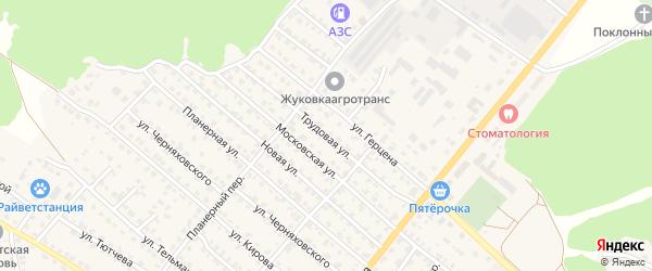 Трудовая улица на карте Жуковки с номерами домов