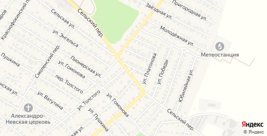 Цветочная улица в Жуковке с номерами домов на карте. Спутник и схема онлайн