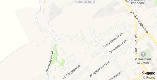 2-й Партизанский переулок в Трубчевске с номерами домов на карте. Спутник и схема онлайн