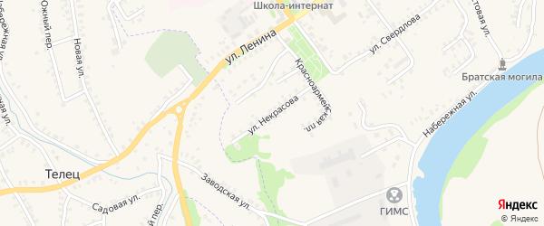 Улица Некрасова на карте Трубчевска с номерами домов