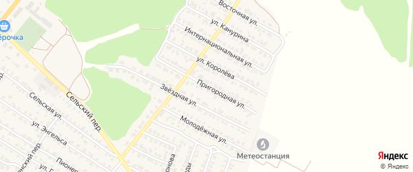 Пригородная улица на карте Жуковки с номерами домов