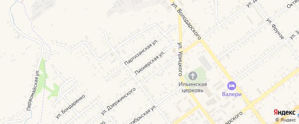 Пионерская улица на карте Трубчевска с номерами домов